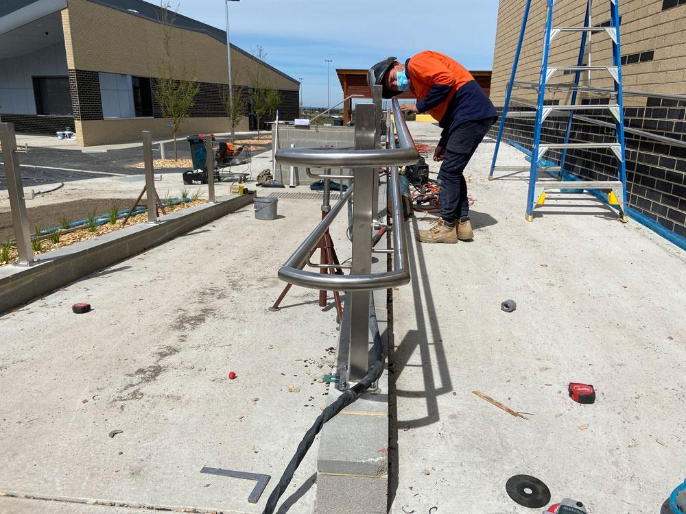 METAL WORK AND HANDRAILS AND BALUSTRADES