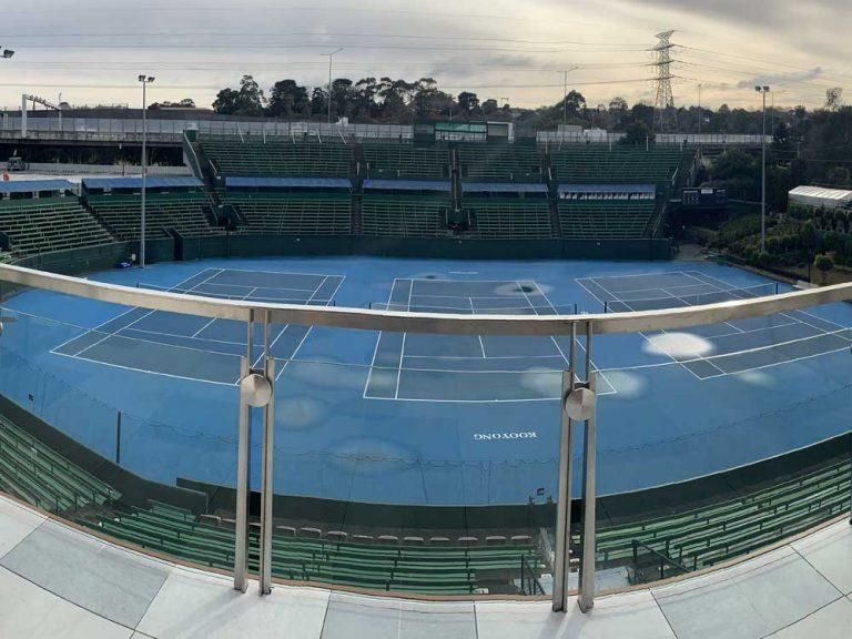 Kooyong Lawn Tennis Club with stainless handrails installed by Mechcon.